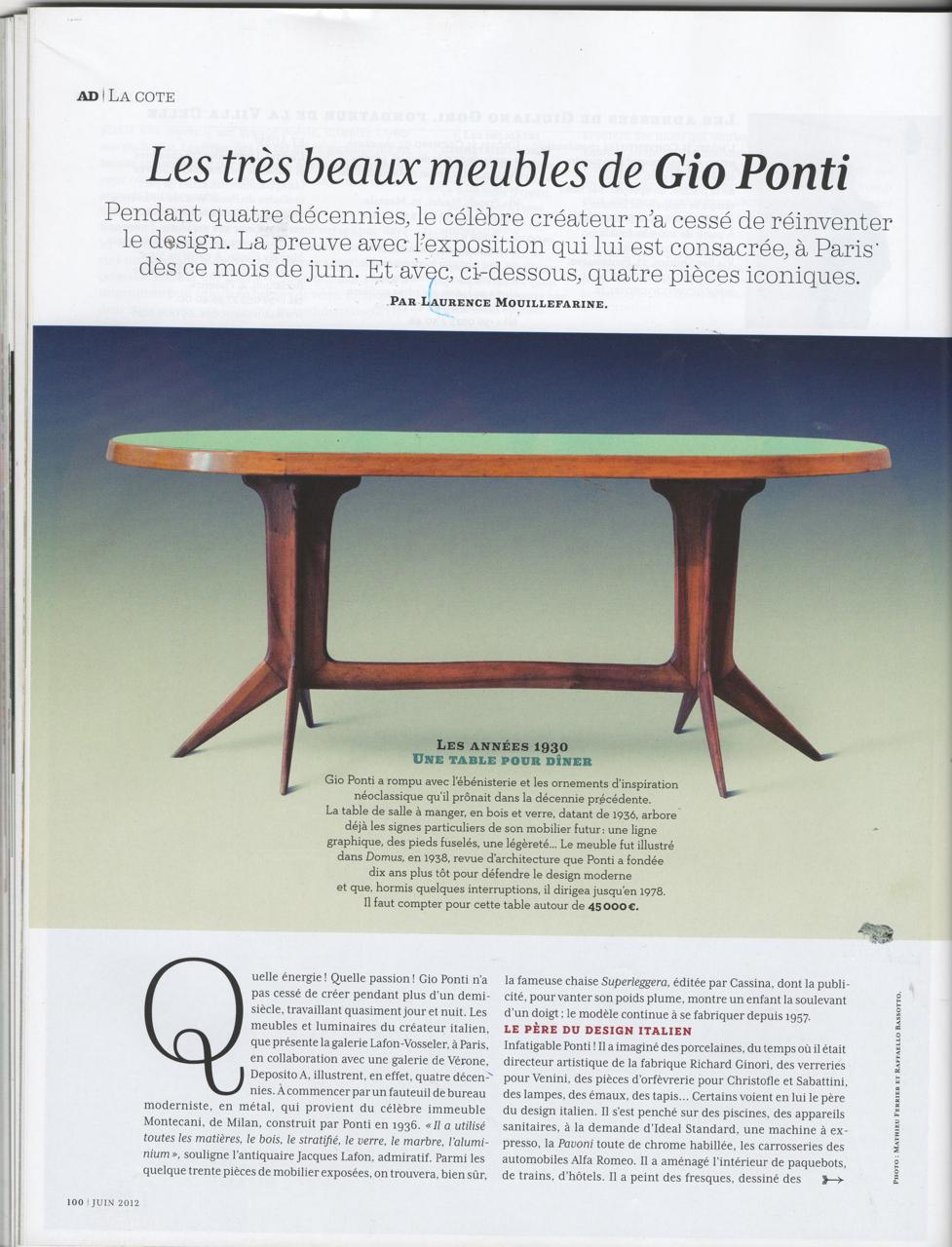 Les très beaux meubles de Gio Ponti